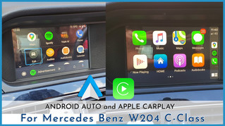 Mercedes Benz - CarPlay & Android Auto Integration, Touch or Using dial pad?