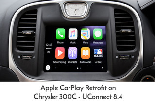 "Apple CarPlay / Android Auto Retrofit for Chrysler 300C 2nd Gen, with UConnect 8.4""."