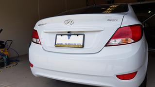 Hyundai Accent Reverse Camera retrofit - on Factory audio display
