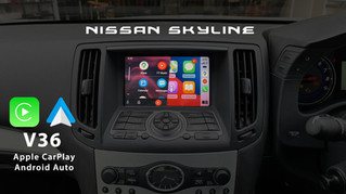 Nissan Skyline V36 - Apple CarPlay & Android Auto Integrated