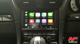 Porsche 911 GT3 - Apple CarPlay and Parking Camera setup Integrated into Factory PCM Audio