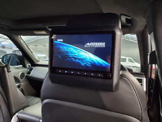 Range Rover Sports L494 - Headrest DVD Player Installed - Mongoose Q500