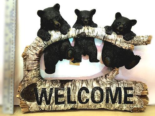 """Welcome"" bears sign"