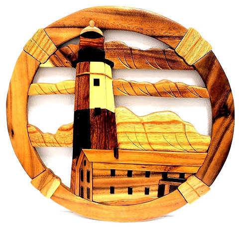 Wooden Lighthouse Wall Hanging