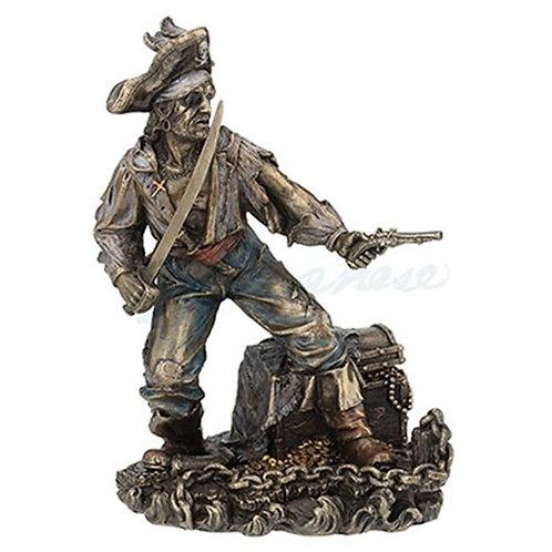 Pirate Captain Guarding Treasure