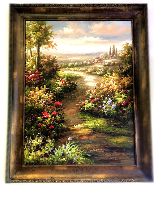 Large Garden Oil painting
