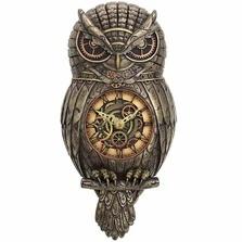 Owl Pendulum Wall Clock
