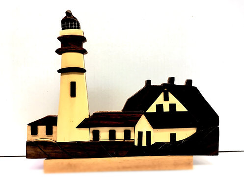 Portland Lighthouse wood table top