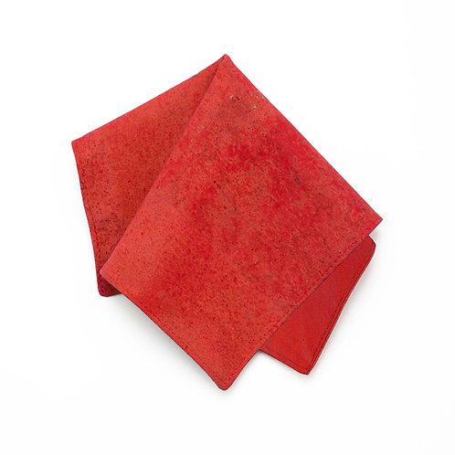 Kork Einstecktuch - RED