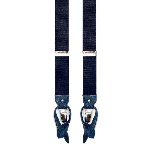 Kork Hosenträger - BLUE