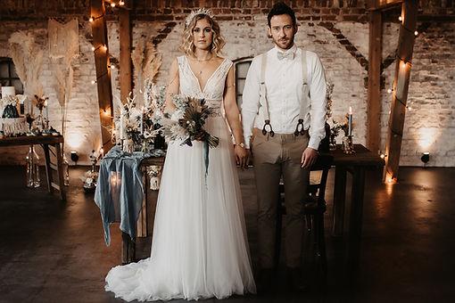 Vintage Wedding - Leinen Brautpaar