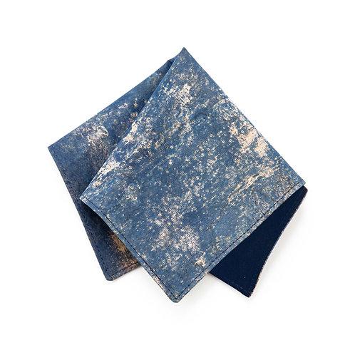 Kork Einstecktuch - WASHED BLUE