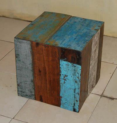 blocos de madeira de barco ( banquinho)