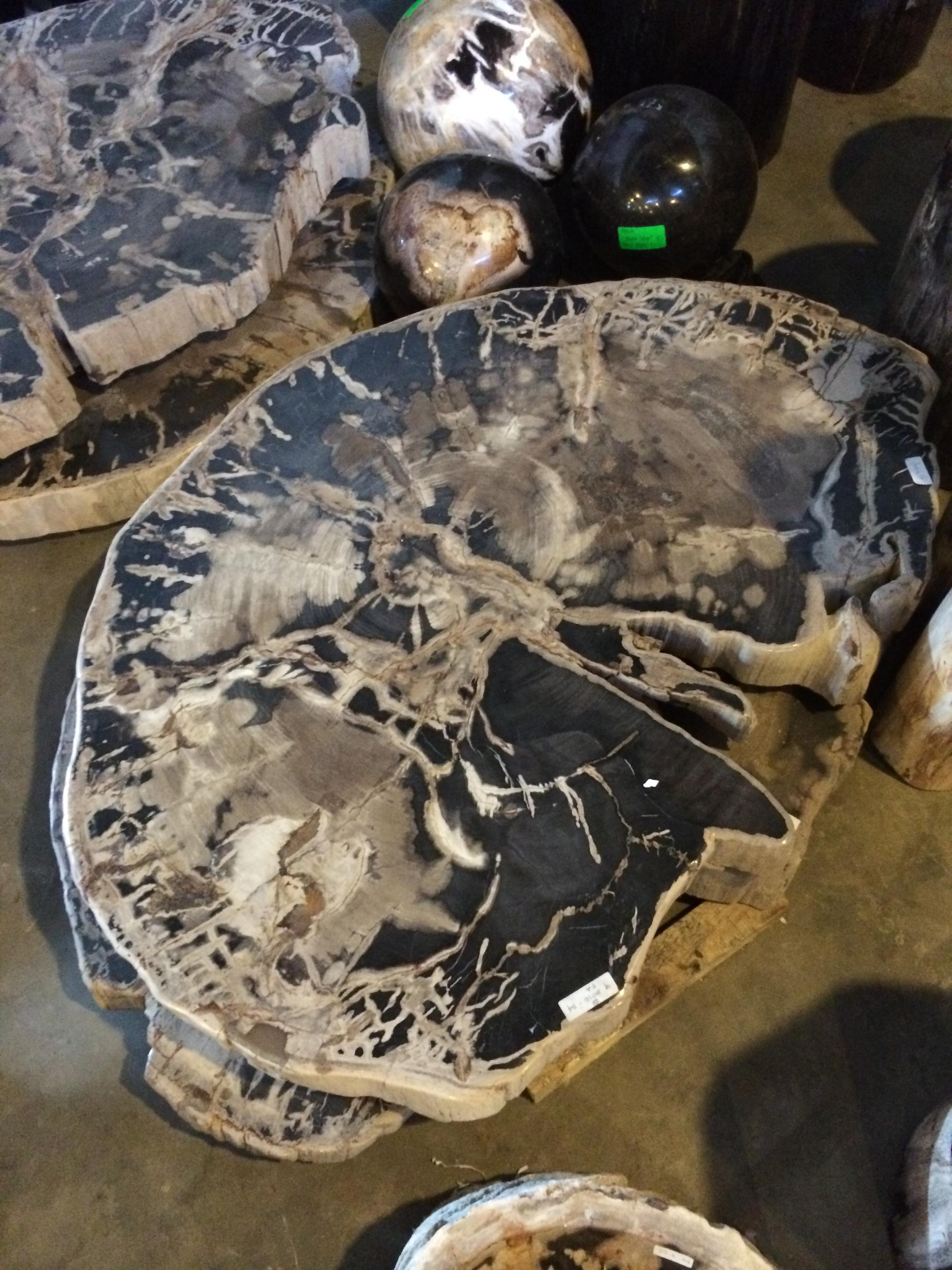 mesinha madeira petrificada