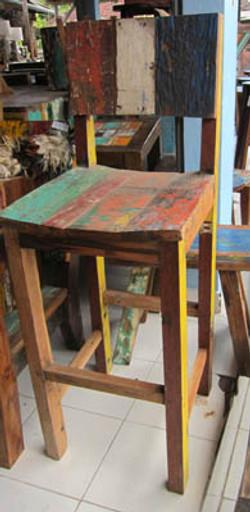 cadeira bar madeira de barco