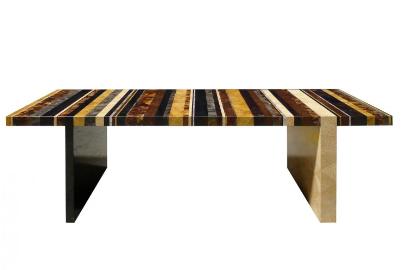 mesa de centro multicolor