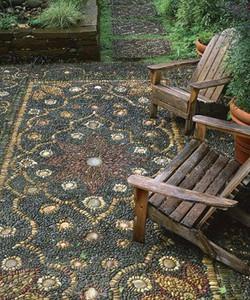 1 Tapete de mosaico de pedras