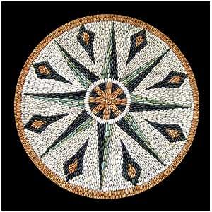 SCScompass mosaico de pedra