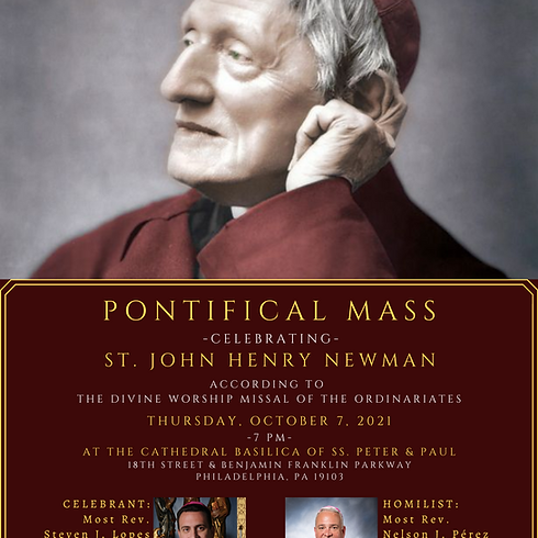 Pontifical Mass celebrating St. John Henry Newman