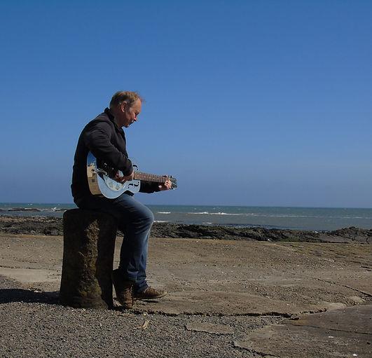 Andy Shanks onJohnshaven Harbour