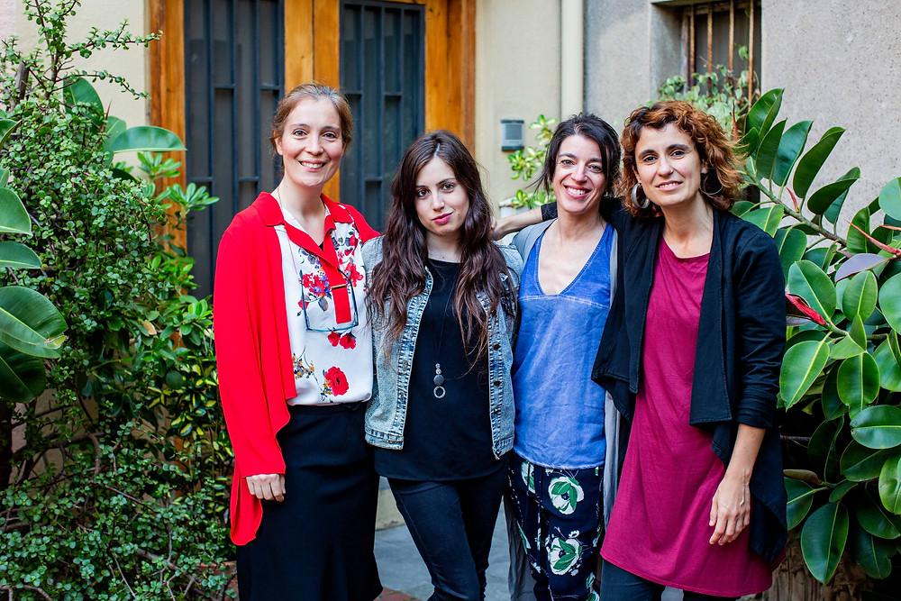 D'esquerra a dreta: Heura Marçal, Elena Gisbert, Iolandai Roser Ferrando