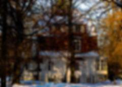 Haus, Winter, Bäume, Schnee, Carolin Lobina