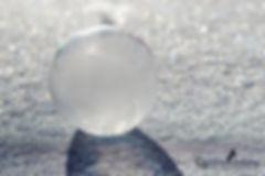 gefrorene Seifenblase, Winter, Schnee, Sonne, Carolin Lobina