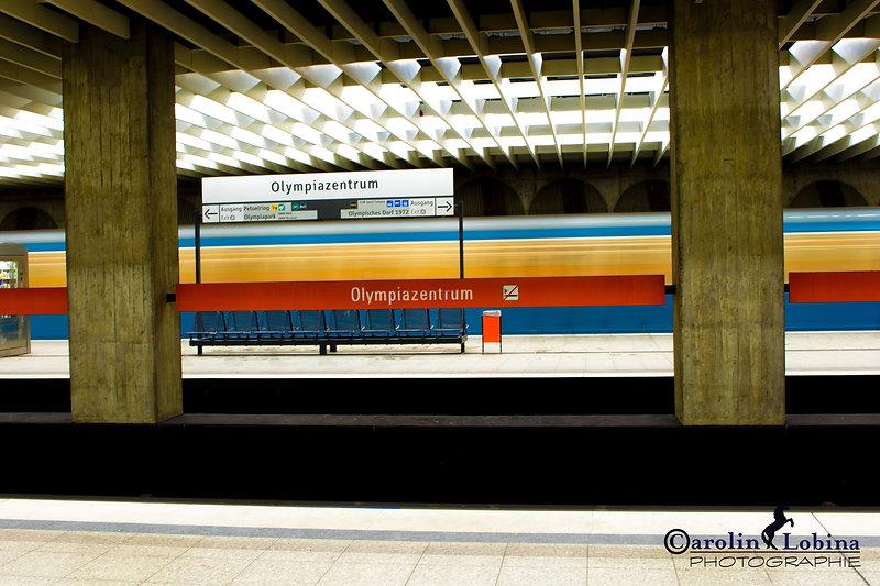 U-Bahn München, Olympiazentrum, Carolin Lobina
