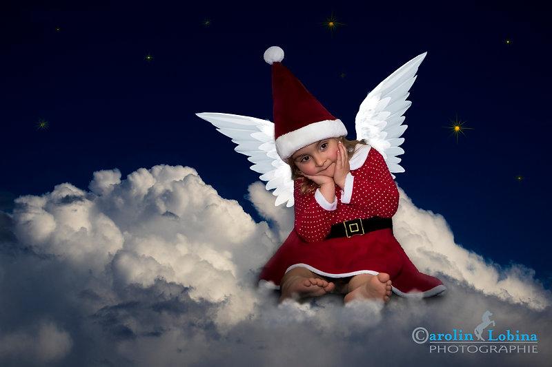 Engel, Weihnachten, Nikolaus, Wolken, Carolin Lobina