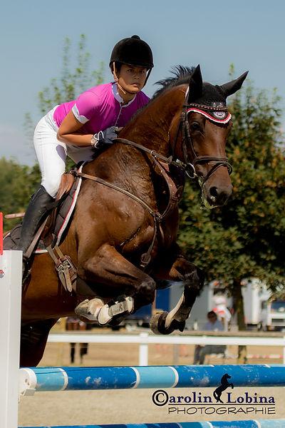 Pferd über Sprung, Carolin Lobina