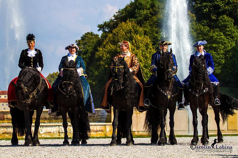 historische Gewänder, Friesen, Pferd, Schloß Schleißheim Carolin Lobina