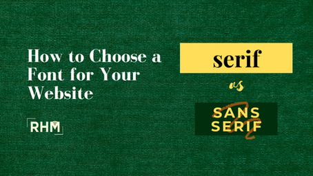 How to Choose a Font for Your Website