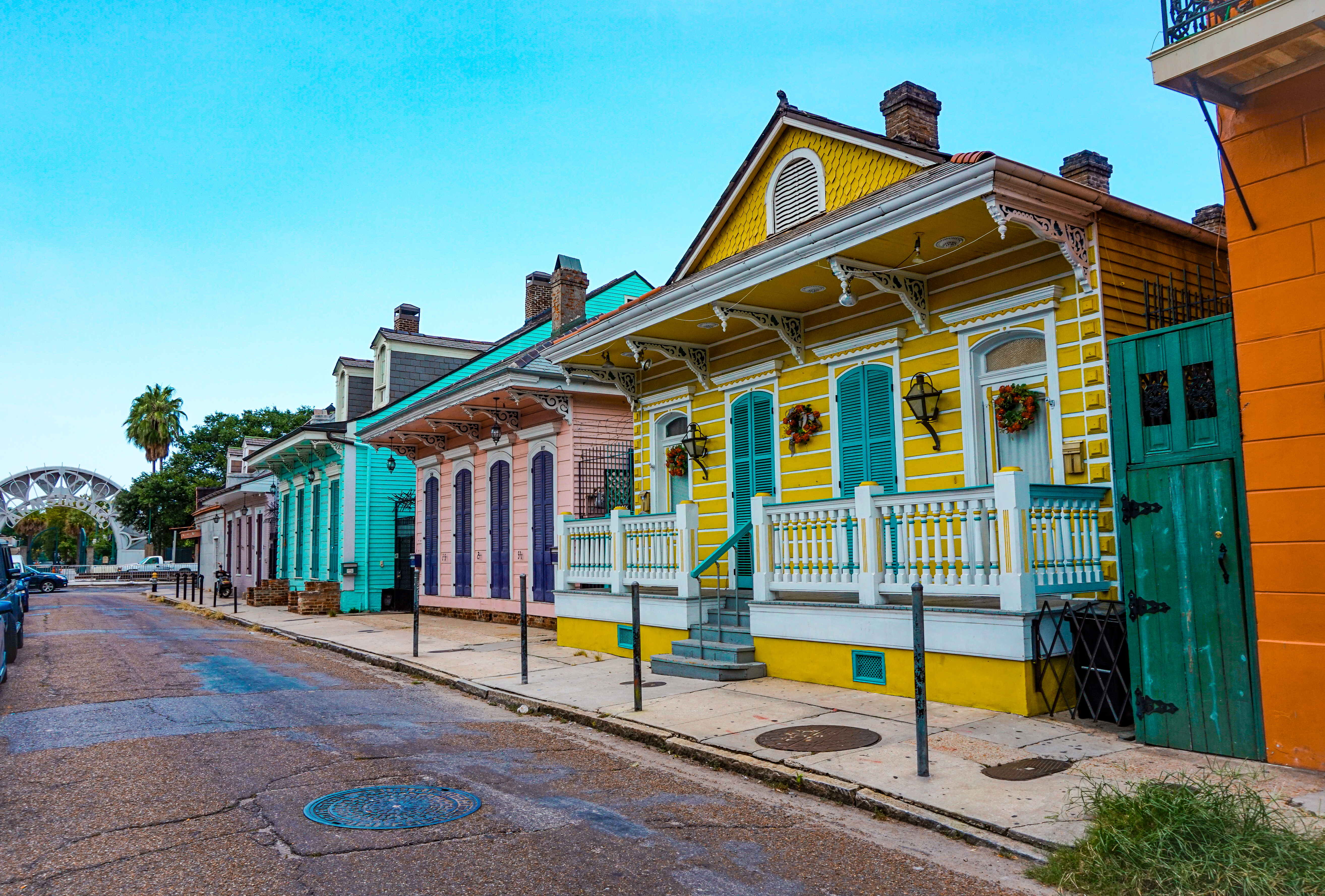 Colorful street in the french quarter, i