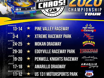 2020 FUNNY CAR CHAOS Schedule!  Be There!!!