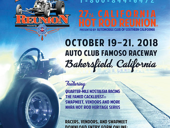 THE 27TH ANNUAL NHRA CHRR is just a few weeks away!  NHRA HOT ROD HERITAGE SERIES OCT 19-21ST 2018 I