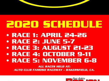 LET's RACE! ANRA 2020 Schedule!
