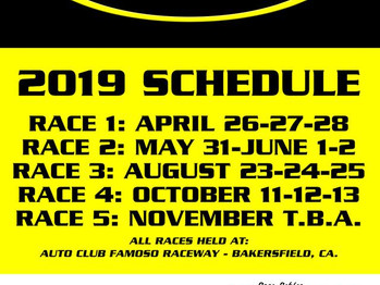 YOUR 2019 ANRA SERIES SCHEDULE!