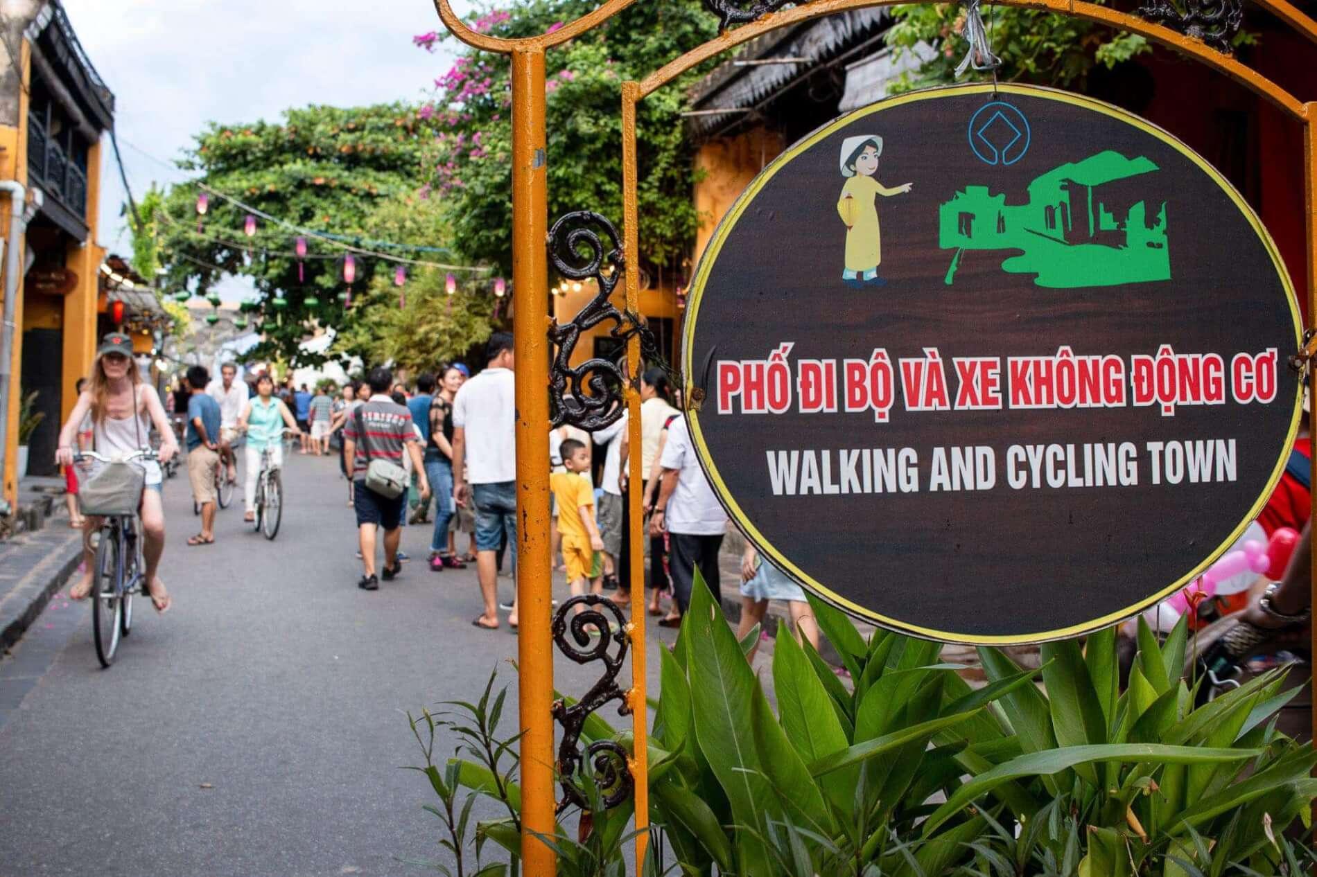 Pedestrian area in Hoi An Ancient Town