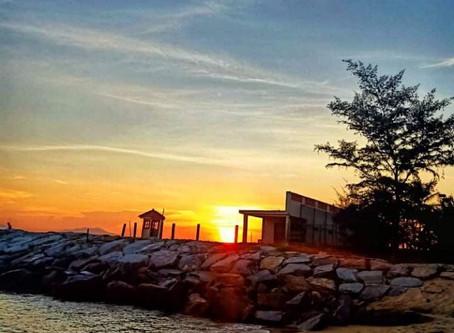 Breathtaking View at Sunrise on Cua Dai Beach