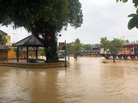 Deluge turns life upside down in Hoi An central of Vietnam after few days of heavy rain and windy.