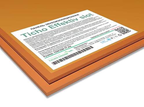 Ticho Effektiv Slot панель звукоизоляционная;  размеры 1200*800*17 мм, вес 21 к