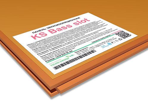 KS Bass Slot панель звукоизоляционная  размеры 1200*800*25 мм  вес 30,7 кг
