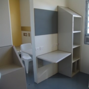 Prison Bench and Shelving