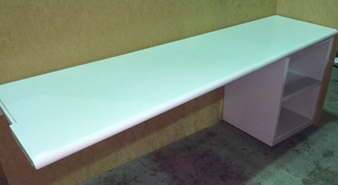 Prison Desk with Storage Shelves