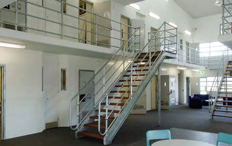 Prison Staircase, Landing and Handrails