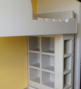 Prison Bunk Beds with Storage Shelves and Ladder