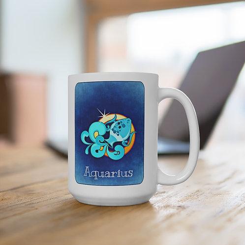 Aquarius - White Ceramic Mug