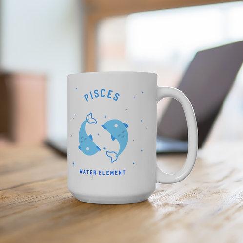 Pisces Mug - (back side) Zodiac Symbol