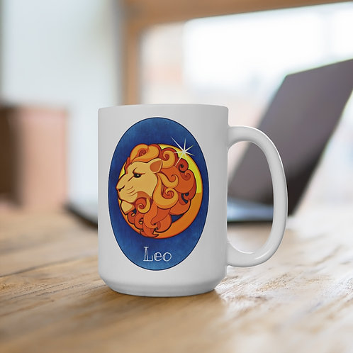 Leo - White Ceramic Mug