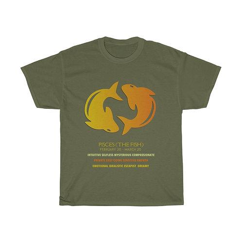 Pisces - Unisex Zodiac Sign T-Shirt